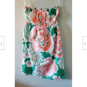Lilly Pulitzer Strapless Ruffle Accent Dress